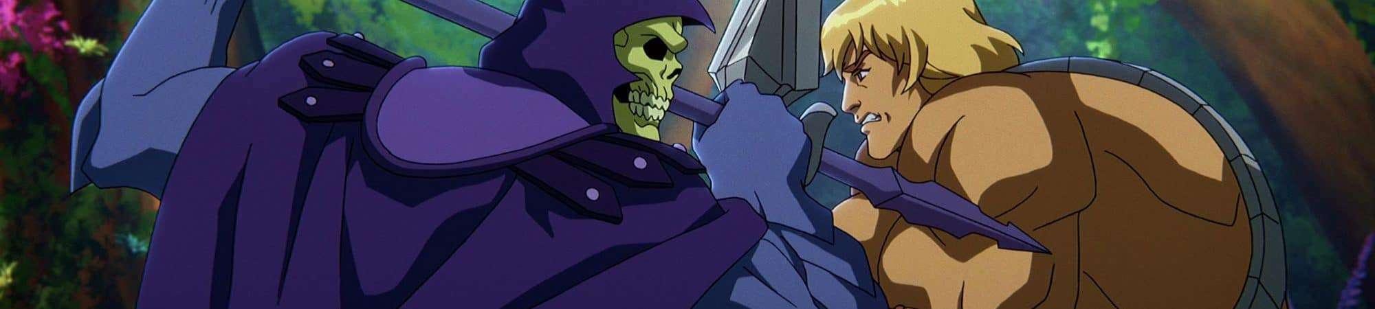 Esqueleto (Mark Hamill) e He-Man (Chris Wood). Imagem: Netflix/Divulgação