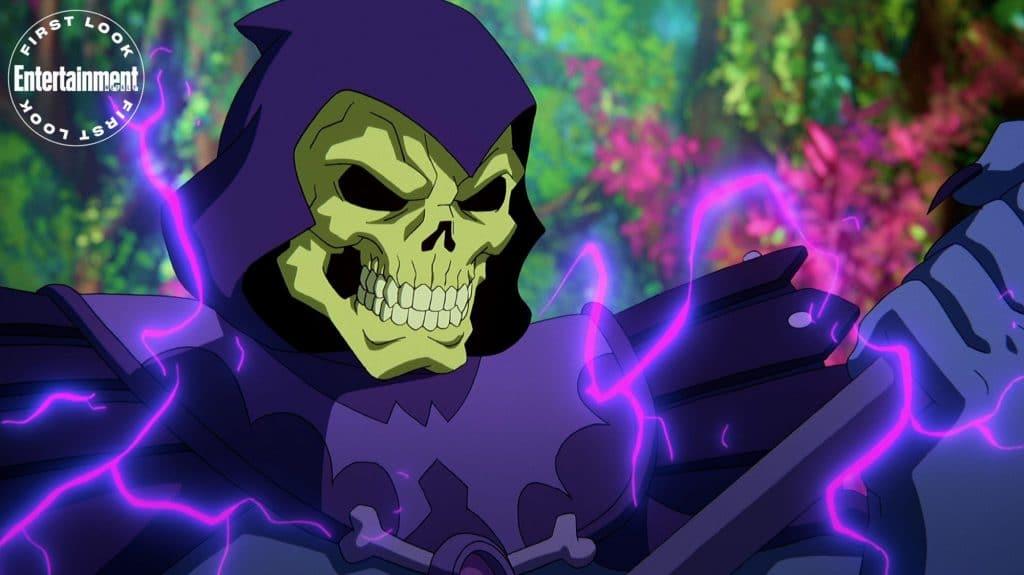 Esqueleto (Mark Hamill) em 'Masters of the Universe: Revelation'. Imagem: Netflix/Divulgação
