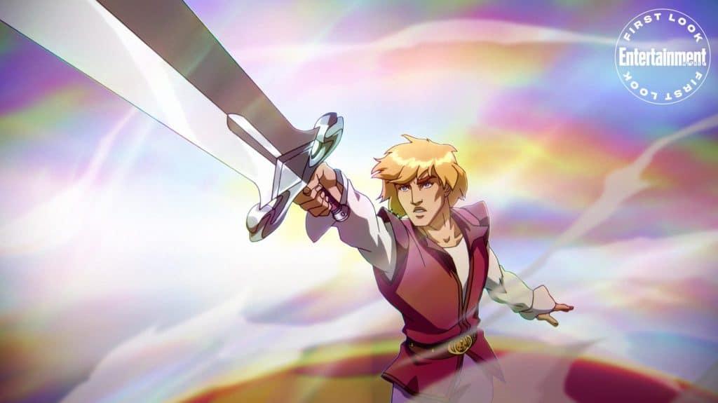 Príncipe Adam (Chris Wood) em 'Masters of the Universe: Revelation'. Imagem: Netflix/Divulgação