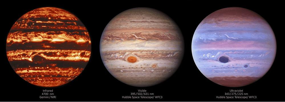 júpiter em três luzes