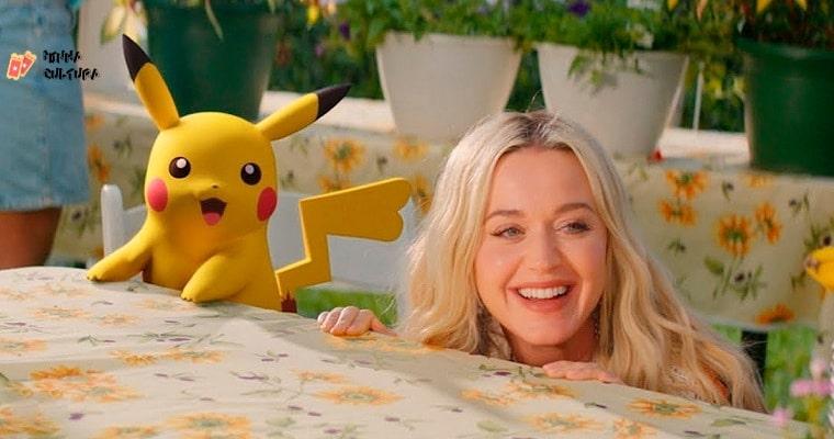 Ao lado de Pikachu, Katy Perry lança música para comemorar 25 anos de 'Pokémon'. Imagem: Reprodução