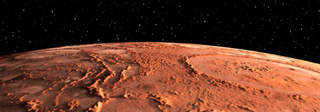 Ilustração de Marte
