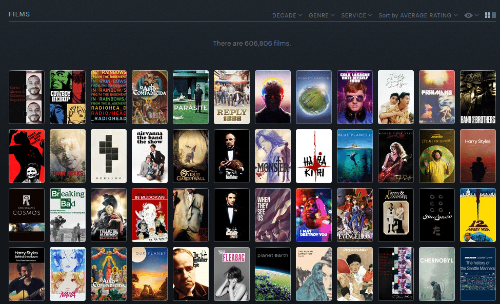 menos gilberto en primer lugar en la plataforma de cine