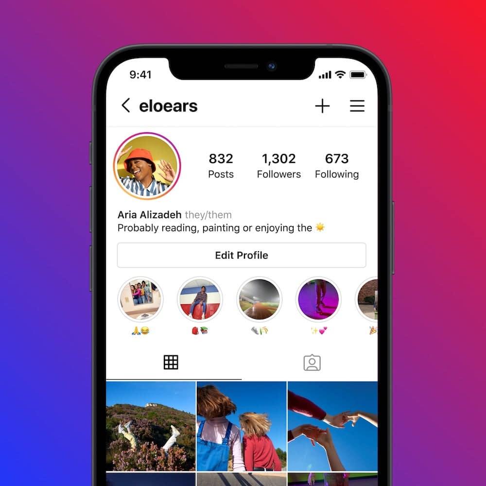Instagram permite a adição de pronomes nos perfis