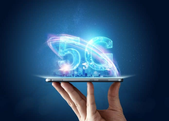 Ilustração de tecnologia 5G