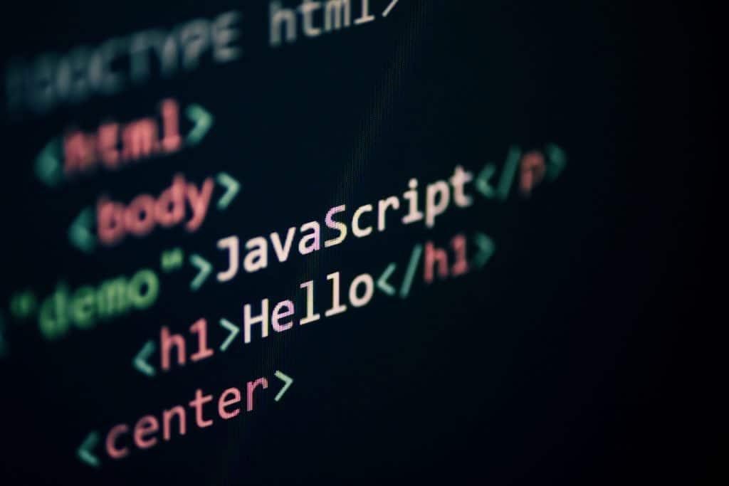 Exemplo de programação JavaScript
