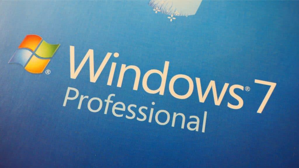 Imagem mostra a tela de um computador equipado com o Windows 7