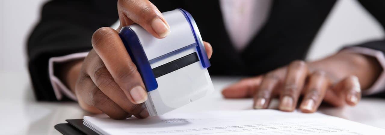 Ilustração de documentos oficiais