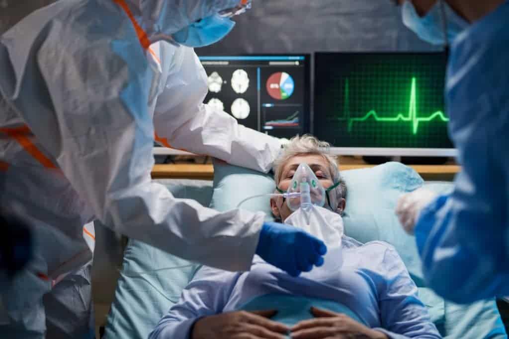 Morte por complicação respiratória