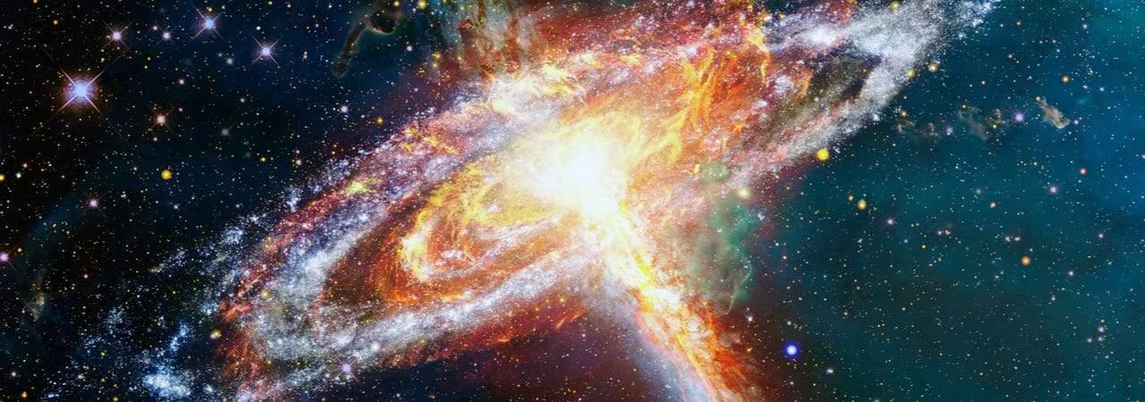 Imagem mostra uma explosão estelar