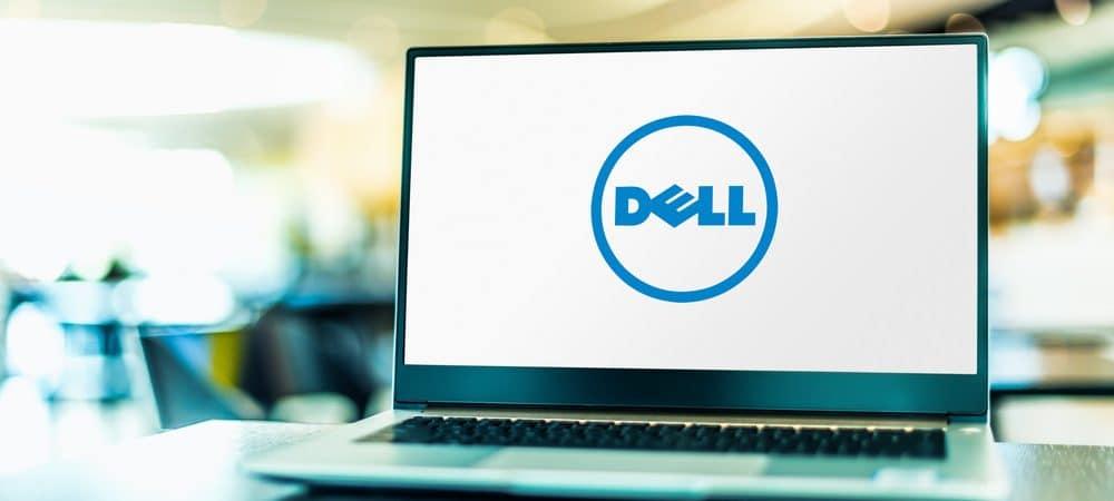 Laptop exibindo o logotipo da Dell