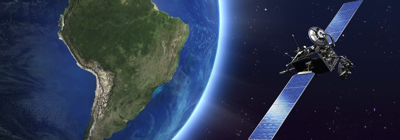 Satellite internet illustration in Brazil