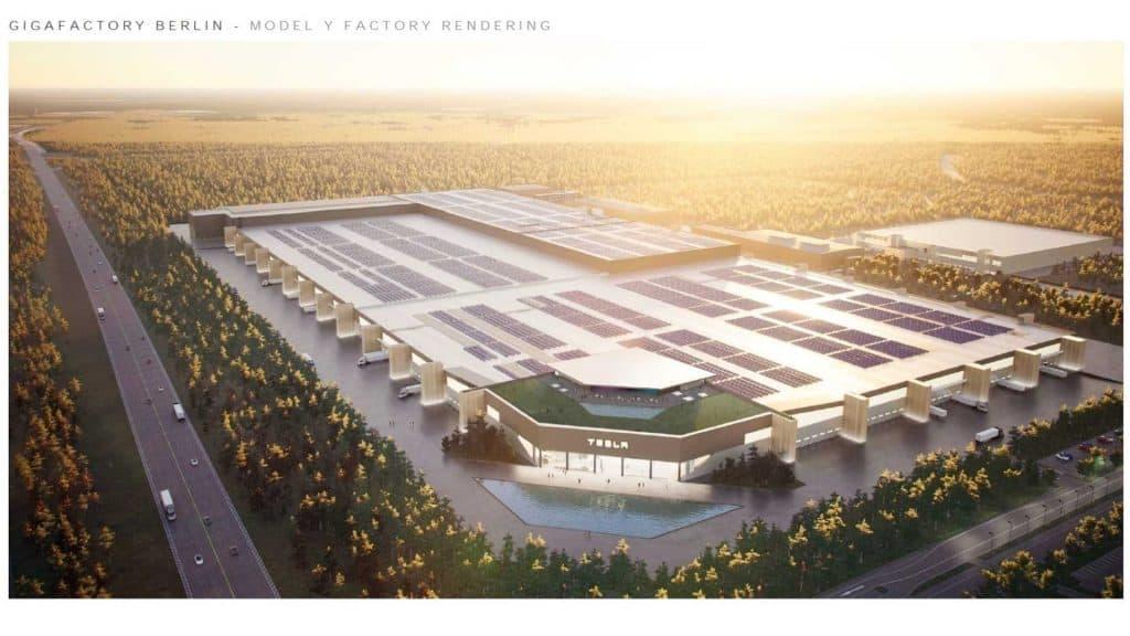 Gigafactory project in Berlin, Germany. Image: Tesla Q4 2020 Report / Disclosure