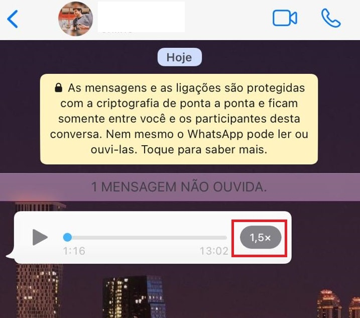 How to speed up audio on WhatsApp