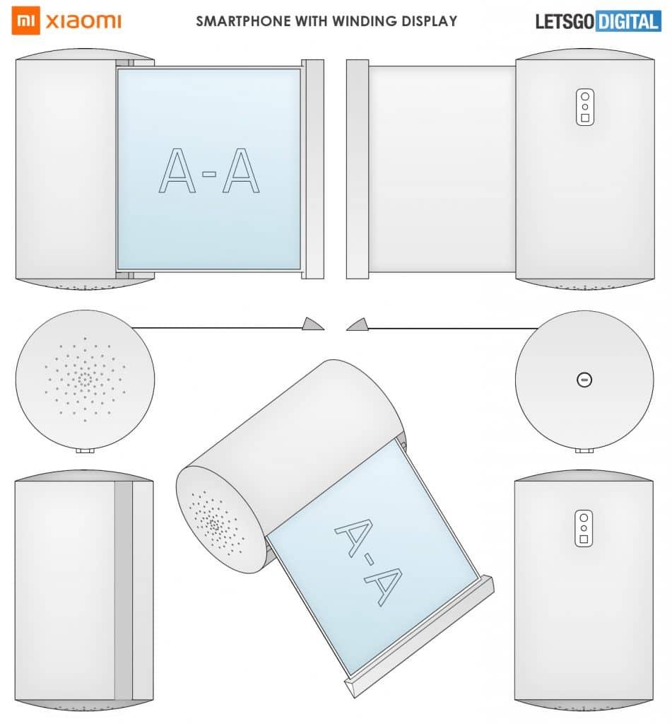 Patente da Xiaomi de smartphone com tela retrátil