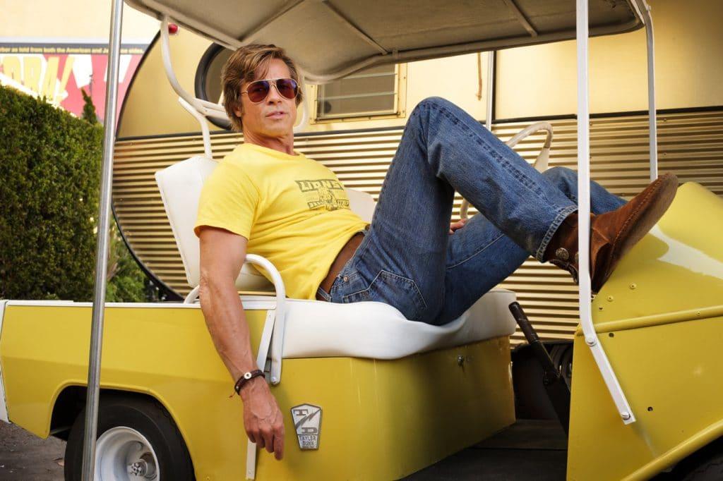Brad Pitt como Clint Booth em 'Era uma vez... em Hollywood'. Imagem: Sony Pictures/Divulgação