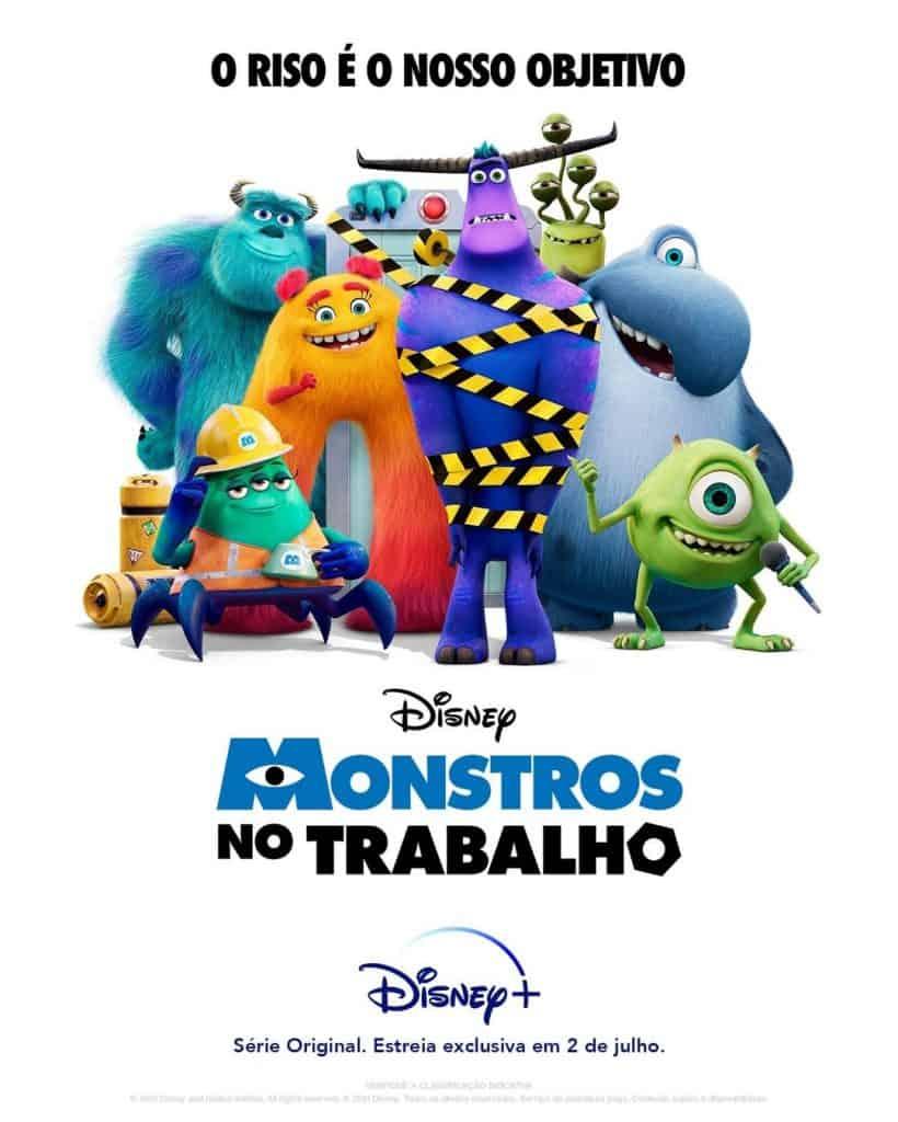 'Monstros no Trabalho': continuação de 'Monstros S.A.' ganha pôster e trailer em português. Imagem: Disney+/Divulgação