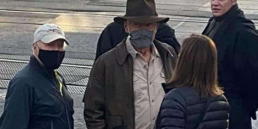 Harrison Ford se machuca durante filmagens de 'Indiana Jones 5'. Imagem: Instagram/Reprodução