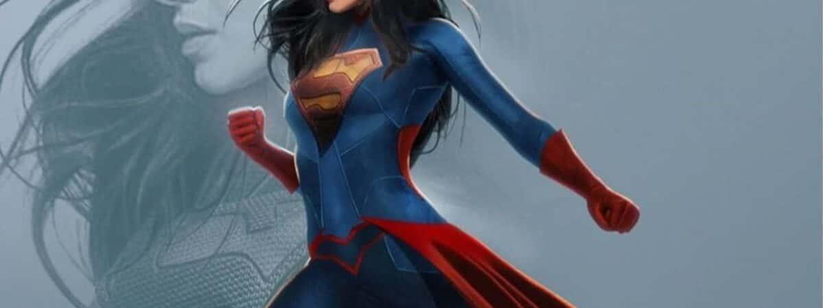 Arte feita por fã imagina como Sasha Calle irá ficar uniformizada como Supergirl em 'The Flash'. Imagem: Instagram/Reprodução