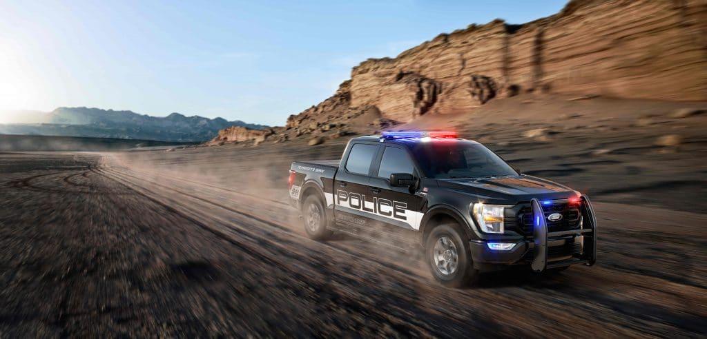 Ford F-150 Police Responder é a mais rápida das viaturas, diz polícia dos EUA. Imagem: Divulgação/Ford