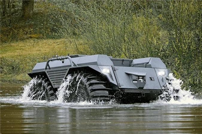 Mission Master XT: veículo autônomo pode transportar mais de uma tonelada de suprimentos para zonas de guerra. Imagem: Rheinmetall/Divulgação