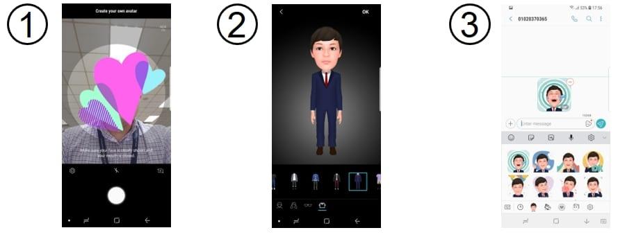 Criando um Memoji pelo AR Emoji, da Samsung