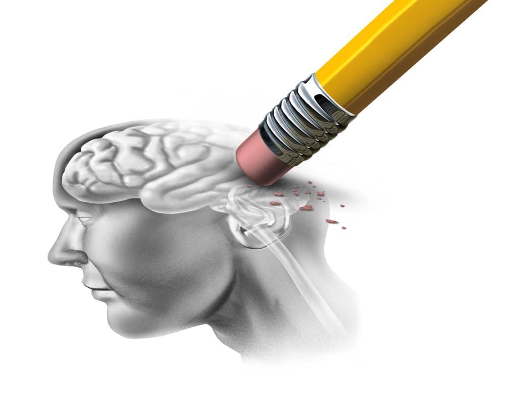 Desenho representando doenças degenerativas cerebrais