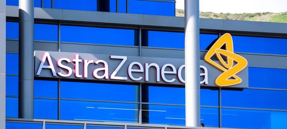 Fachada de um prédio da AstraZeneca