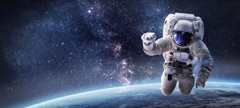 Ilustração de um astronauta no espaço