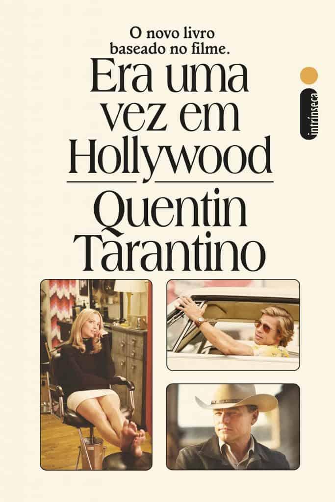 Capa do livro Era uma vez em Hollywood, de Tarantino