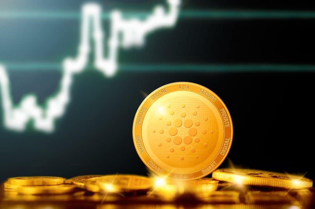 Ilustração de moeda digital Cardano