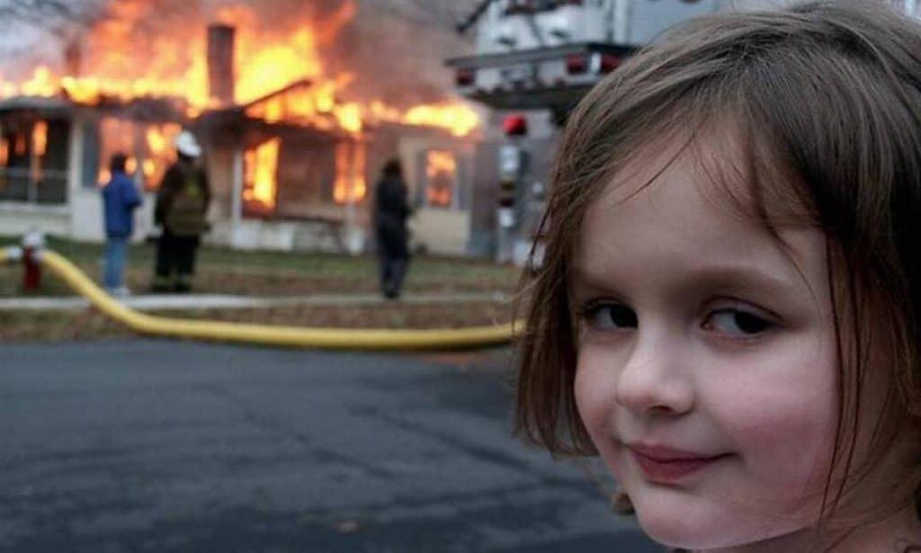 """Meme """"Disaster Girl"""" vendido recentemente como NFT"""