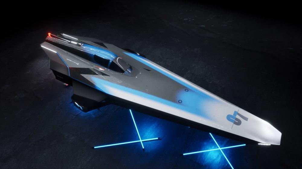 New design of the RaceBird electric speedboat. Image: E1/Disclosure