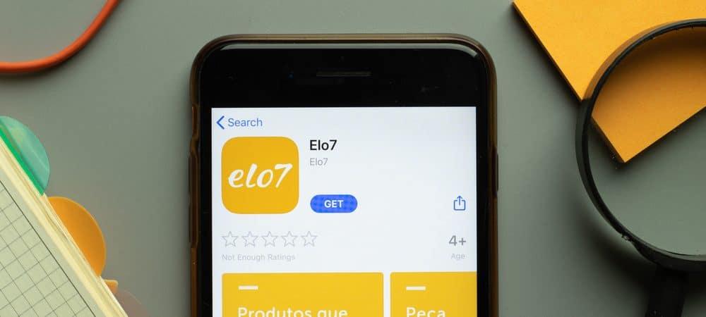 Tela da App Store mostrando o aplicativo da Elo7