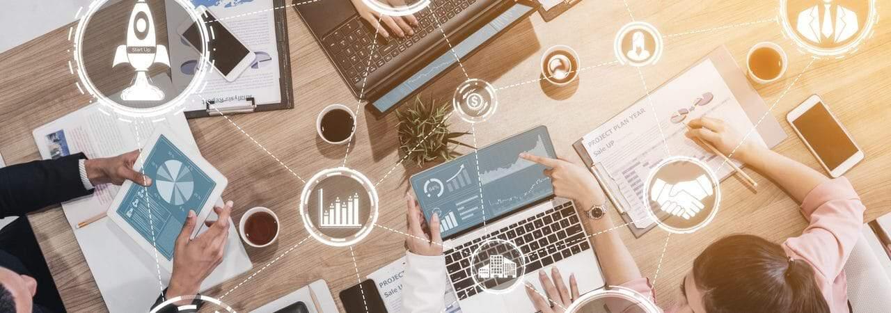 Ilustração de ferramentas para empreendedorismo digital