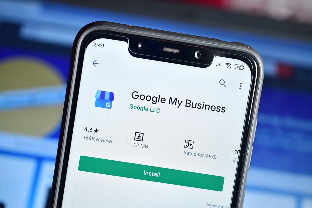 Página do Google My Business na Play Store
