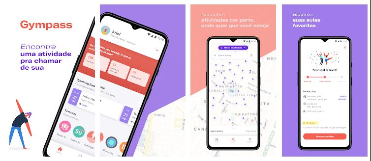 Ilustração de aplicativo da Gympass