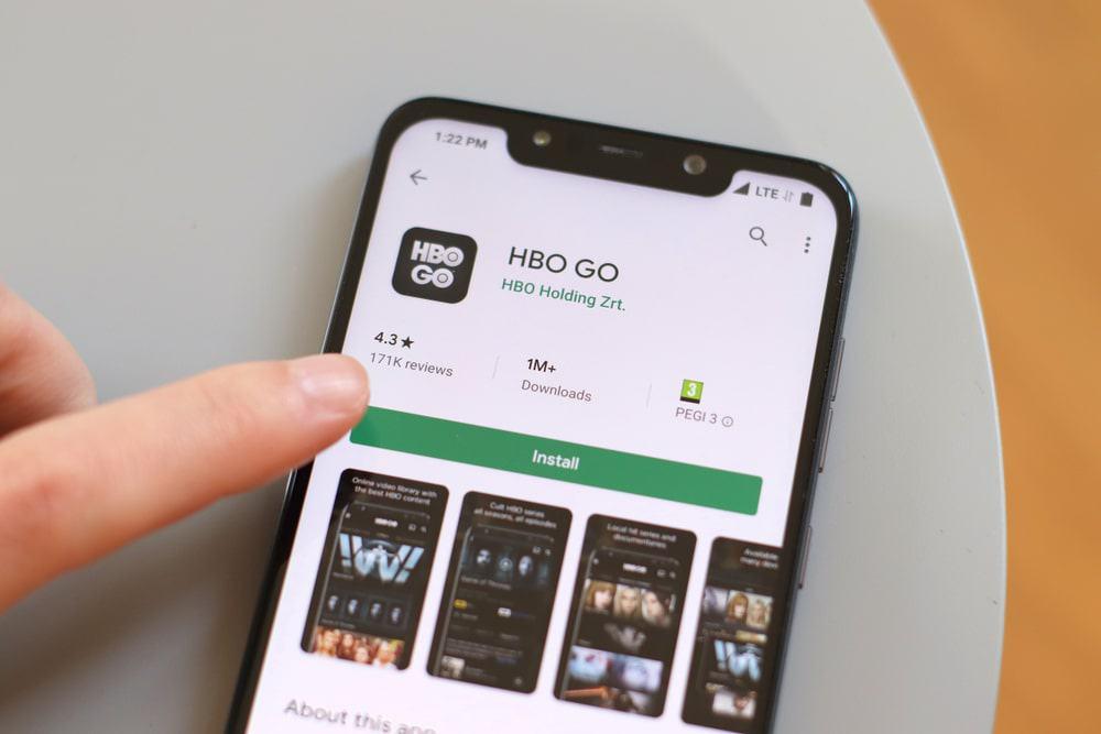 Aplicativo HBO Go na loja de aplicativos Play Store