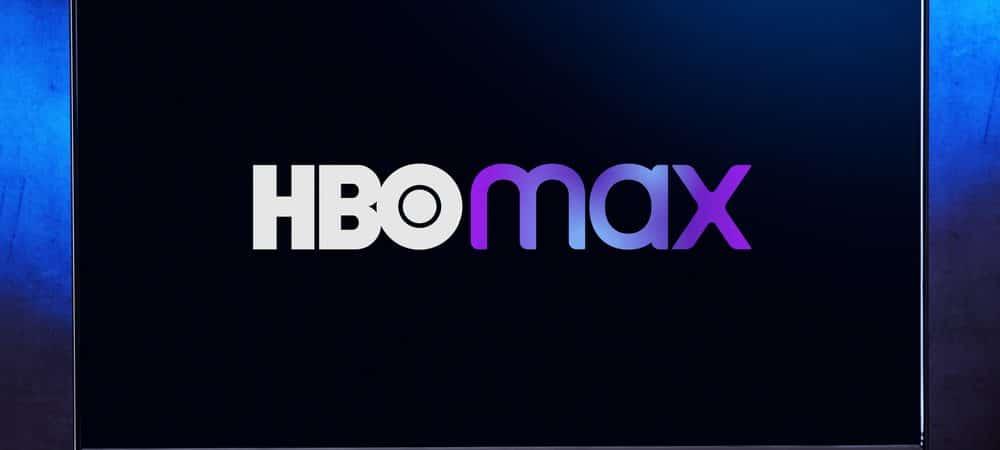 Logo do HBO Max em uma televisão