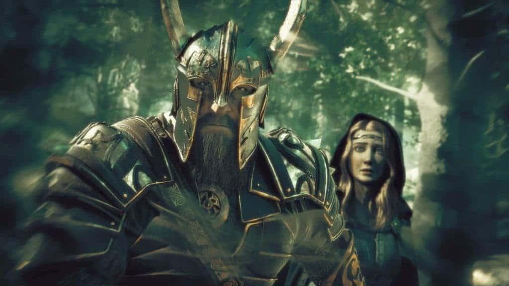 Helm Mão-de-Martelo como retratado no jogo 'Terra-Média: Sombras da Guerra'. Imagem: WB Games/Reprodução
