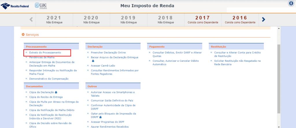 Print do e-CAC