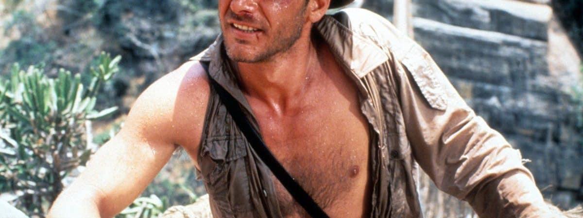 Harrison Ford em cena no segundo Indiana Jones.