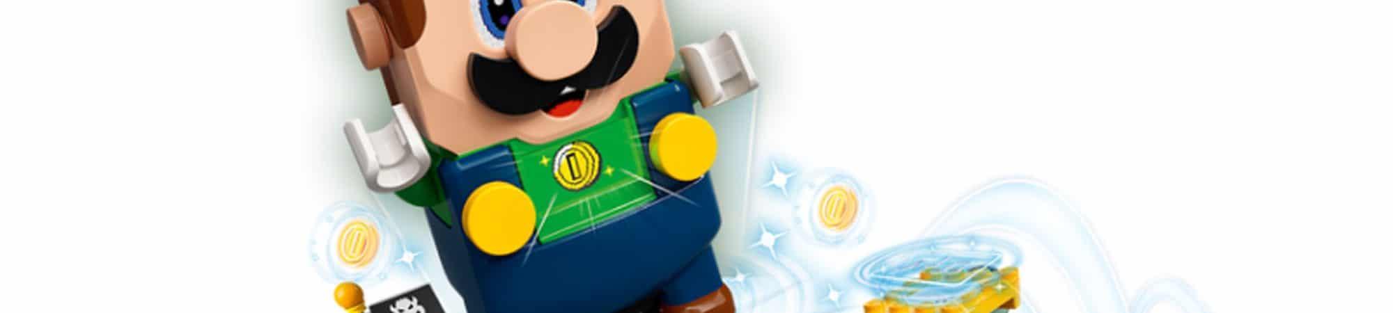 La imagen destaca a Luigi en la versión de Lego.