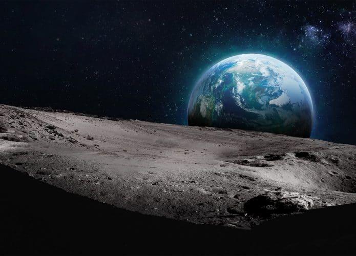 Terra vista da superfície da Lua