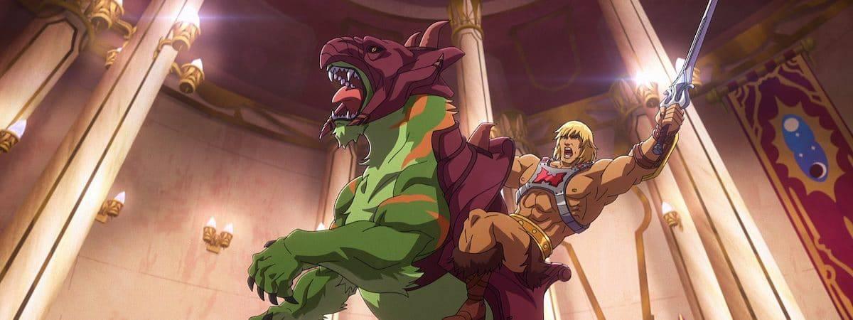 He-Man montado no Gato Guerreiro