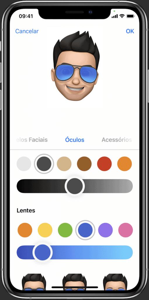 Criando um Memoji pelo iPhone