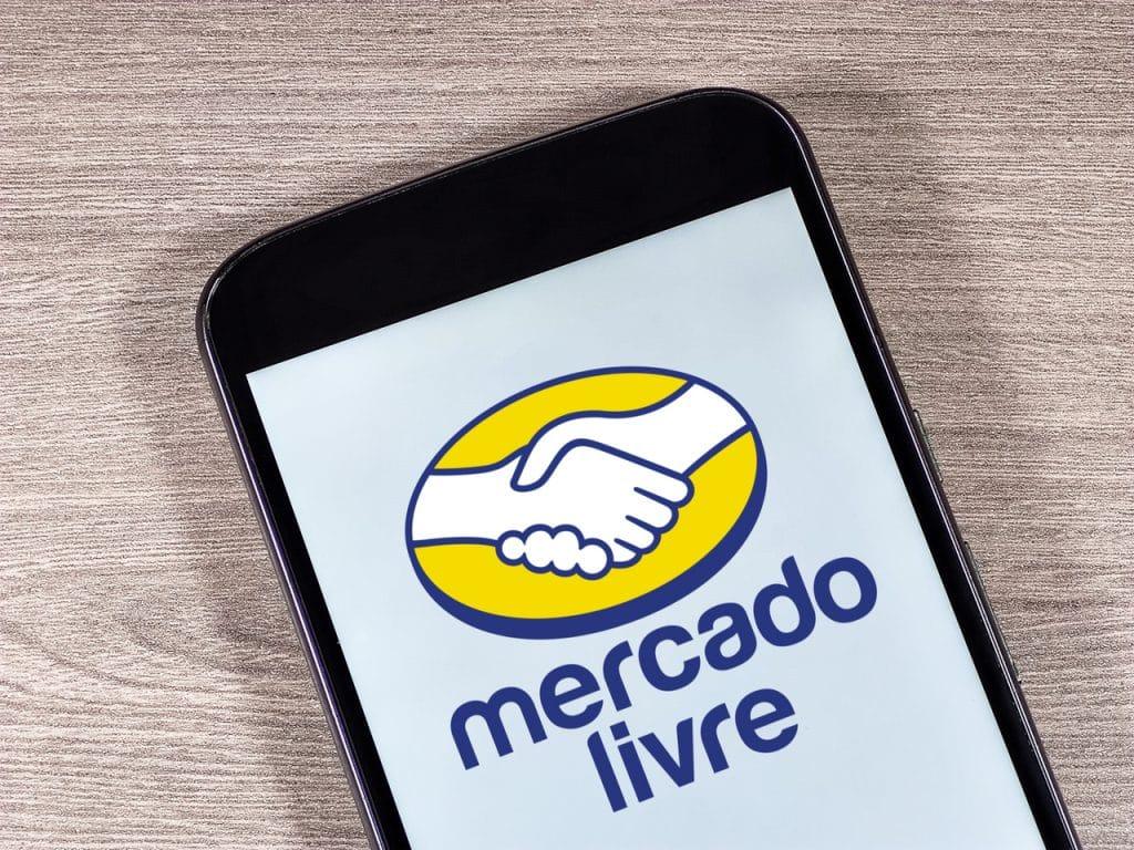 Logo do Mercado Livre exibido em smartphone