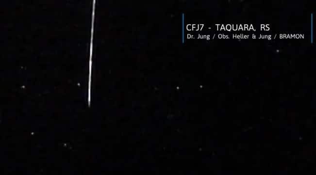 Meteoro Earthgrazer no Rio Grande do Sul pode ter origem interestelar