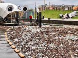 """Algumas máquinas já """"comeram"""" mais de 1.300 toneladas de lixo"""
