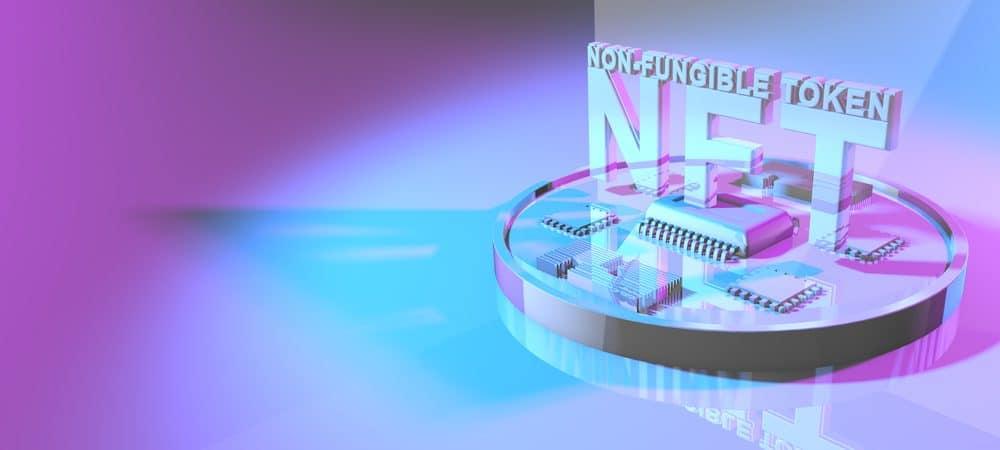 Desenho 3D do logo NFT